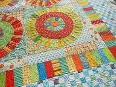 "Isn't this gorgeous? From Green Fairy Quilts. This is a cute quilt inspired by the quilt pattern ""Everyday Best"" by Piece O Cake."