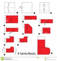Резултат слика за mikulás csizma készítése papírból Santa Boots, Techno, Diagram, Illustration, Image, Children, Noel, Illustrations