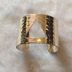 Triangle bangle  Triangle bangle  Worn once  Silver Please ask for additional pictures, measurements, or ask questions before purchase No trades or other apps. Ships next business day Reasonable offers accepted  Five star rating Bundle for discount Jewelry Bracelets