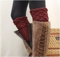 Spice up your fall boots with our charming paprika knit boot cuffs. The must have boot topper this season! There is so much to love about this delightful boot topper. Scallop cuff top that peaks out f