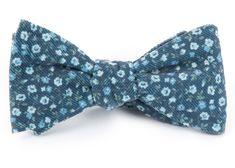 Corduroy Dahlias Bow Ties - Navy | Ties, Bow Ties, and Pocket Squares | The Tie Bar