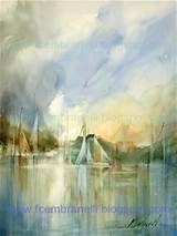 Blue Landscape / Paisagem Azul, original painting by ...