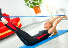 From Flab to Fab: Tone Up in 15 Minutes  Stop muffin top, nip hips, and trim thighs! This Pilates and plyometrics routine tones every trouble zone.