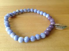 A personal favorite from my Etsy shop Kama Fitness, My Wish List, My Etsy Shop, Beaded Bracelets, Purple, Jewelry, Fashion, Moda, Jewels