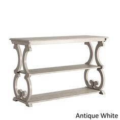Lorraine Wood Scroll TV Stand Sofa Table by TRIBECCA HOME - Free Shipping Today - Overstock.com - 20742204 - Mobile