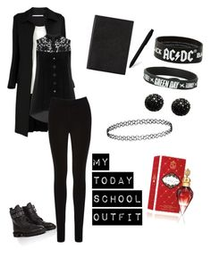 My Today School Outfit :3 by dadyrabbit on Polyvore featuring polyvore fashion style Manon Baptiste Rosetta Getty Oasis Golden Goose Kenneth Jay Lane Topshop Smythson Moleskine