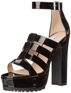 04691822775 Steve Madden Womens Groove Dress Sandal Black Patent 95 M US -- For more  information