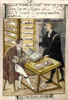 Matthäus Schwarz of Augsburg (1497-1574) age 19 working as a clerk to Jakob Fugger