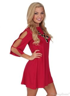 Sweet Life Red Swing Dress | Monday Dress Boutique