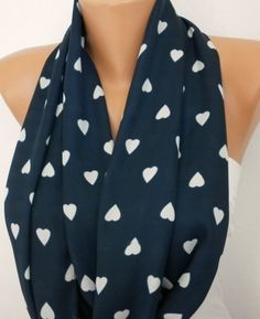 Heart Scarf Infinity Scarf Shawl Circle Scarf Loop by fatwoman, $19.00