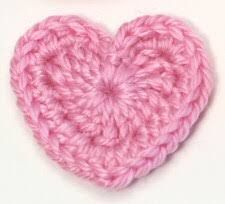 Image result for free crochet heart applique pattern