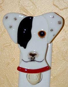 "Custom Made Custom  Fused Glass Pet Portrait Nightlight - ""Buddha"""