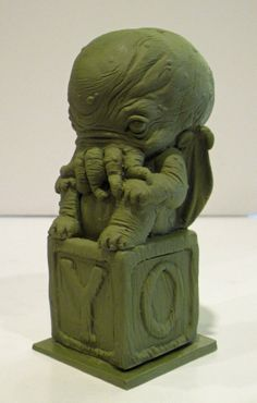 PYO Little Ancient One Cthulhu Baby Statue by TKMillerSculpting, $50.00 #cthulhu