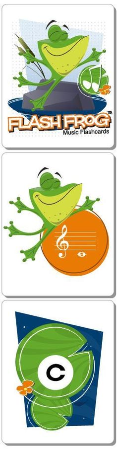 Flash Frog | Music Flashcards for Beginners - Drill note names or play two classic games with Flash Frog� flashcards. Created with the beginning music student in mind, helping them to drill essential music symbols and terms to help them feel confident and play great!