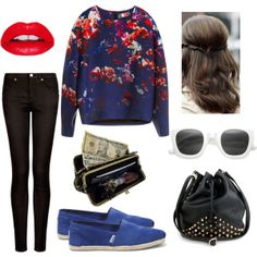"""""""Happy Monday!!"""" by zerouv on Polyvore: RETRO ERA THICK SQUARE FRAME HIPSTER SUNGLASSES 8969"""