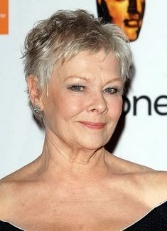 Beautiful Dame Judi. Short hairstyles fine hair square face - Short Hairstyles for Fine ...