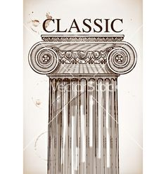 Classical column background vector - by roverto on VectorStock®