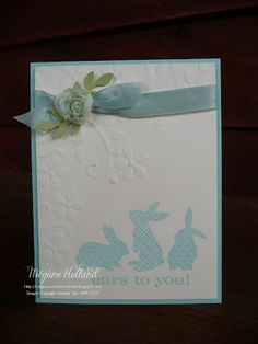 Stampin' Up! Easter by Meg H at Megumis Stampin Retreat: Elegant Bouquet Ears to You Card