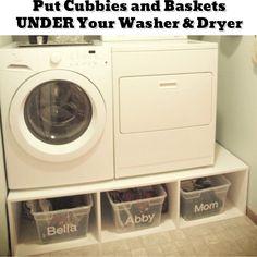 Small laundry room organization ideas - Getting Organized - 50+ Easy DIY organization Ideas To Help Get Organized