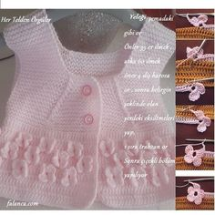 The butterfly garden, perhaps one of the most beautiful vests of baby braids … - knitting Crochet Bobble Blanket, Crochet Cardigan Pattern, Baby Knitting Patterns, Crochet For Kids, Crochet Baby, Knit Baby Sweaters, Baby Coat, Baby Yellow, Baby Kind