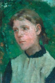 ♀ Painted Art Portraits ♀ George Clausen | Head of a Girl