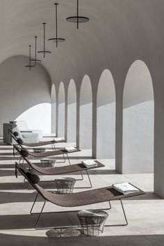 Discover the Euphoria Retreat wellbeing destination spa through the inspiring images of our image gallery. Architecture Life, Interior Architecture, Minimal Architecture, Interior Exterior, Interior Design, Piscina Interior, Places In Greece, Outdoor Living, Outdoor Decor