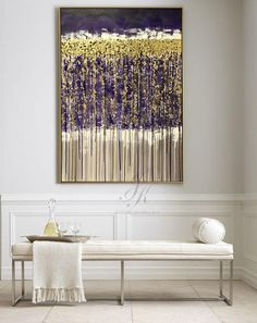 Large Abstract Oil Painting Gold Leaf Painting Silver Leaf This is an original professional painting right from my favorite studio. Signature front and back. DETAILS * Name: Abstract 2017 * Painter: Julia Kotenko * Size: 47 x 31 (120x 80 cm) * Original handmade oil painting on