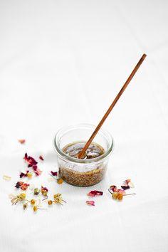 diy beauty, rose, rose oil, face scrub, organic, natural beauty, homemade, scrub, facial, wellness, chamomile, oats, healing, self care