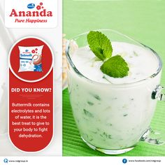 #DidYouKnow ? #Buttermilk is a delicious & healthy drink for the #Summer . It is also a great way to cool off yourself for a hot day! Here are some amazing benefits of buttermilk. #Ananda #PureHappiness