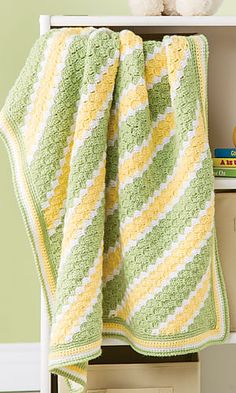 Ravelry: Cluster Stripes Baby Blanket pattern by Delma Myers