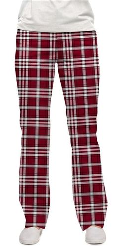 Loudmouth Golf Womens Made To Order Pants - Alabama Tartan Tartan Pants, Golf Wear, Golf Pants, Play Golf, Alabama, Pajama Pants, My Style, How To Wear, Clothes