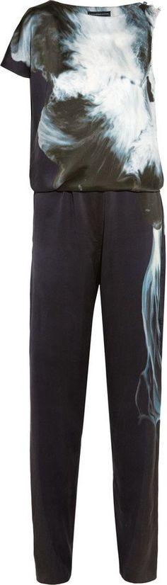 """Pin for Later: Jumpsuits aus Seide sind nicht nur super praktisch, sondern auch bequem und stylisch  Maria Grachvogel """"Lena"""" bedruckter Jumpsuit aus Seide (ursprünglich 1.426 €, jetzt 570 €)"""