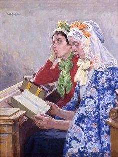 Devotion. Julius Gari Melchers (American, 1860-1932). Oil on canvas. Addison Gallery of American Art.