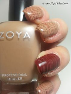 Cherry Chocolate Spun Sugar Nails #sugarnails #brown - bellashoot.com