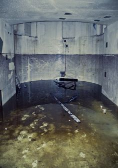 Bare footprints in an abandoned nuclear reactor - there's no way all the radioactive contamination has been removed from this place. I'll take a protective suit, please!