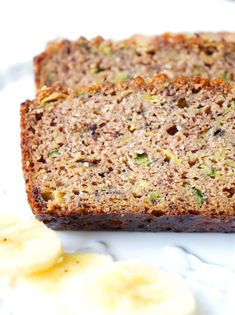 This flourless banana zucchini loaf makes a great healthy snack, dessert or breakfast on the run! It's also packed full of nutrients, moisture and flavour! Gluten-fee, dairy-free and paleo! Healthy Baking, Healthy Snacks, Healthy Recipes, Brunch Recipes, Snack Recipes, Baking Recipes, Zucchini Loaf, Good Food, Yummy Food