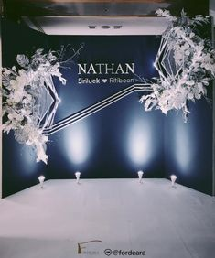 #weddingdecorationthailand #thesukhothaibangkok #graphicweddingstyle #weddingreceptionthailand #weddingceremony  #fordeara #fordearaweddings  #minimalwedding #minimalweddingstyle #weddingbackdrop #backdropblue #backdropสีน้ำเงิน #ฉากถ่ายรูปงานแต่ง #ตกแต่งงานแต่งงาน #การแต่งงาน #modernbackdrop #backdropเรียบหรู #แบลคดรอปสีน้ำเงิน Wedding Backdrops, Wedding Decorations, Wedding Ideas, Facebook Sign Up, Wedding Ceremony Ideas, Wedding Decor, Wedding Jewelry