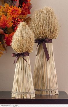 Decorative Harvest Wheat Bundles For Fall Entertaining Fall Crafts, Diy And Crafts, Vase Deco, Home Decor Catalogs, Fall Decor, Holiday Decor, Collections Etc, Deco Floral, Deco Table