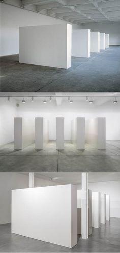 1993 Olivier Mosset - Cimaises / France / aluminium / white / minimalism