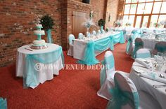Tiffany Wedding Centerpieces | WOW-Wedding-Table-Decorations-Organza-Top-Table-Swags-Bows-Kit-Tiffany ...