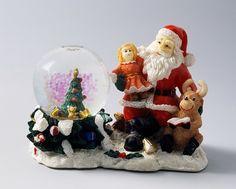 Santa Claus with toys, snowglobe, 20th century