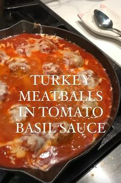 Healthy turkey meatballs simmered in a delicious, homemade spicy tomato basil sauce with creamy burrata cheese. These one pan homemade juicy turkey meatballs in sauce are savory, spicy, creamy and make a delicious weeknight dinner with your favorite pasta or even spaghetti squash! Turkey Meatball Sauce, Turkey Meatballs, Healthy Junk, Healthy Food Options, Healthy Eating, Healthy Recipe Videos, Buzzfeed Food Videos, Tomato Basil Sauce, Ground Turkey Recipes