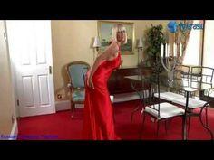 long satin evening fashion - YouTube