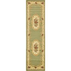 Traditional Versailles Green 2 ft. 7 in. x 10 ft. Area Rug