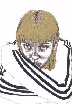gold - Terese B. Larsen @tereseblarsen #illustration