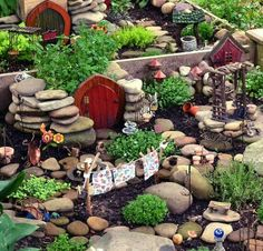 Awesome fairy village with live plants..♥♥♥