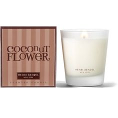 Henri Bendel Coconut Flower Signature 9.4 Oz Candle ($30) ❤ liked on Polyvore featuring home, home decor, candles & candleholders, heart candles, jasmine candle, jasmine vanilla candle, vanilla candle and heart shaped candles