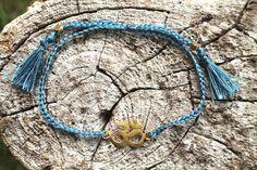Hey, I found this really awesome Etsy listing at https://www.etsy.com/uk/listing/384618148/om-friendship-bracelet-blue-petrol-nylon