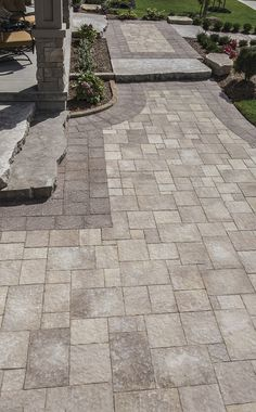The Rugged Weathered Texture Of Centurion Offers Immense Design Flexibility With It S Six Sizes And Multiple Packaging Option Pavers Concrete Pavers Centurion