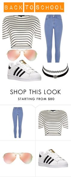 """back to school"" by anna795 ❤ liked on Polyvore featuring River Island, Alexander Wang, Ray-Ban, adidas and Charlotte Russe"